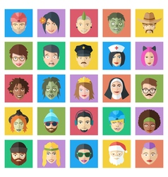 Funny colorful characters set flat style people vector