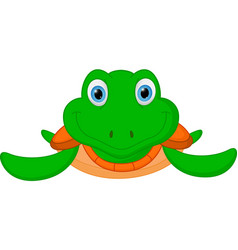 happy turtle cartoon vector image