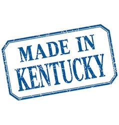 Kentucky - made in blue vintage isolated label vector