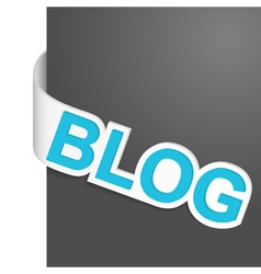 left side sign blog vector image vector image
