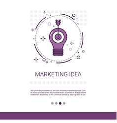 marketing vision business idea banner with copy vector image vector image
