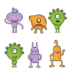 Monsters collection vector image