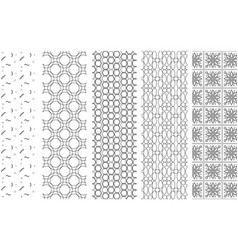 pattern assembly of black contour lines on white vector image vector image