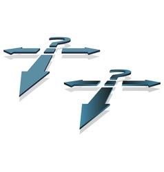 Question mark and arrows vector