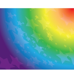rainbow background with stars vector image vector image
