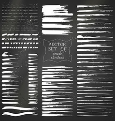 Set of chalk flourishes vector image