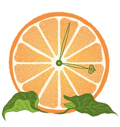 slice of orange as clock vector image vector image