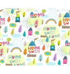 Slogan home sweet home seamless background vector