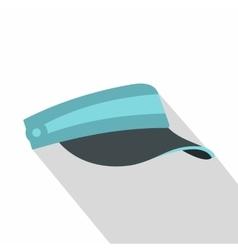Sun cap icon flat style vector image vector image