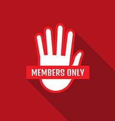 Vip club members only banner vector