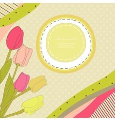 Baby tulips vector image