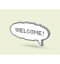 Wellcome bubble vector