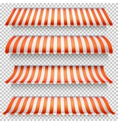Colored awnings set EPS 10 vector image