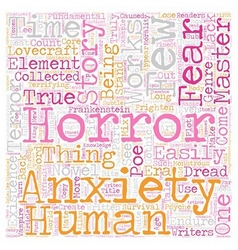 Works from the true masters of fear and anxiety vector