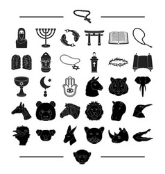 Religion hobbies nature and other web icon in vector