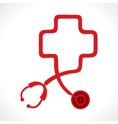 Stethoscope make a medical symbol vector
