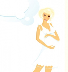 Pregnant women blond vector