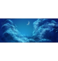 Nightly clouds vector