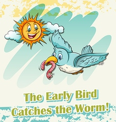 Early bird catches the worm vector