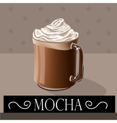 Coffee drink mocha vector