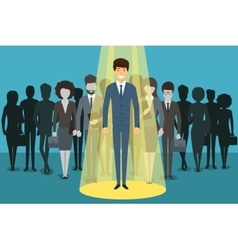 Businessman in spotlight human resource vector