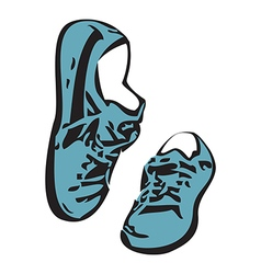 Sneakers shoes sketch drawing sneakers isolated vector