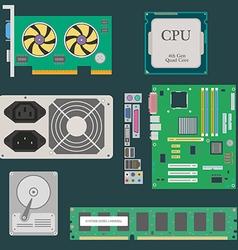 Parts of computer vector