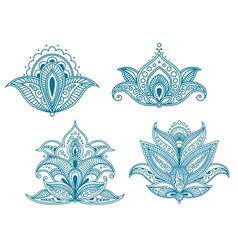 Abstract persian floral embellishments vector