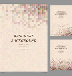 Abstract square tile mosaic brochure design vector