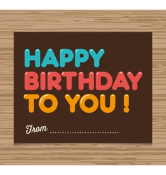 Birthday card brown vector