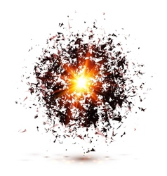 Black explosion isolated on white background vector
