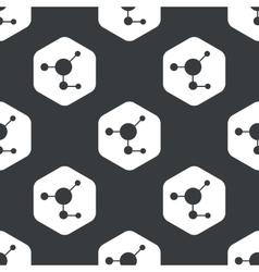 Black hexagon molecule pattern vector