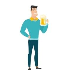 Businessman drinking beer vector image