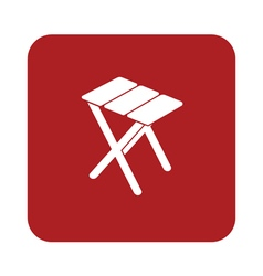 Camping stool icon vector
