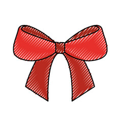 Christmas bow ribbon decoration ornament vector