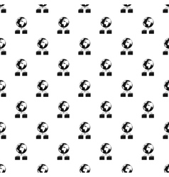 Cloud file storage pattern simple style vector