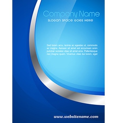Company magazine cover vector
