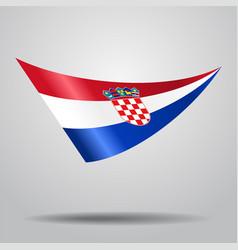 Croatian flag background vector