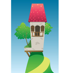 Digital fairytale and fantasy castle vector
