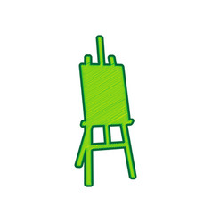 easel sign lemon scribble icon on white vector image