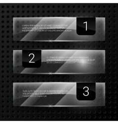 Glass banners set vector image vector image