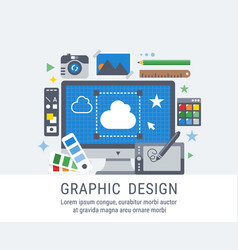 Graphic design flat for web vector