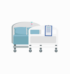 hospital wheeled bed icon vector image vector image