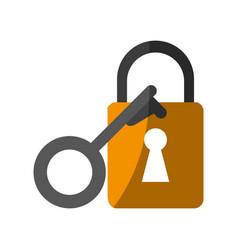 Key lock close vector