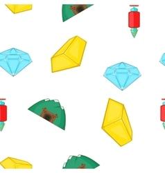 Mining pattern cartoon style vector