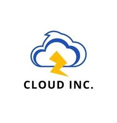 modern minimalistic cloud logo vector image vector image