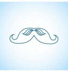 mustache icon design vector image vector image