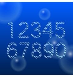 Numbers 0-9 of air bubbles vector