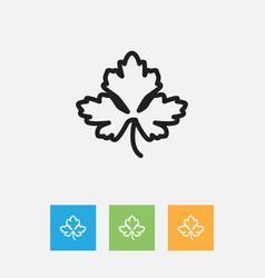Of kitchenware symbol on leaf vector