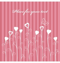 retro love floral card vector image vector image